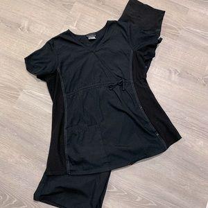 Maternity scrub set black size medium